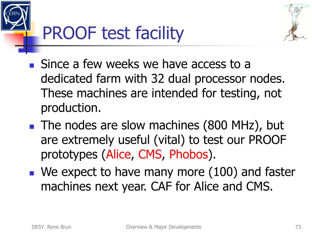 PROOF test facility