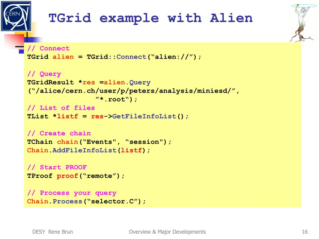 TGrid example with Alien