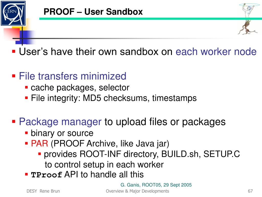 PROOF – User Sandbox