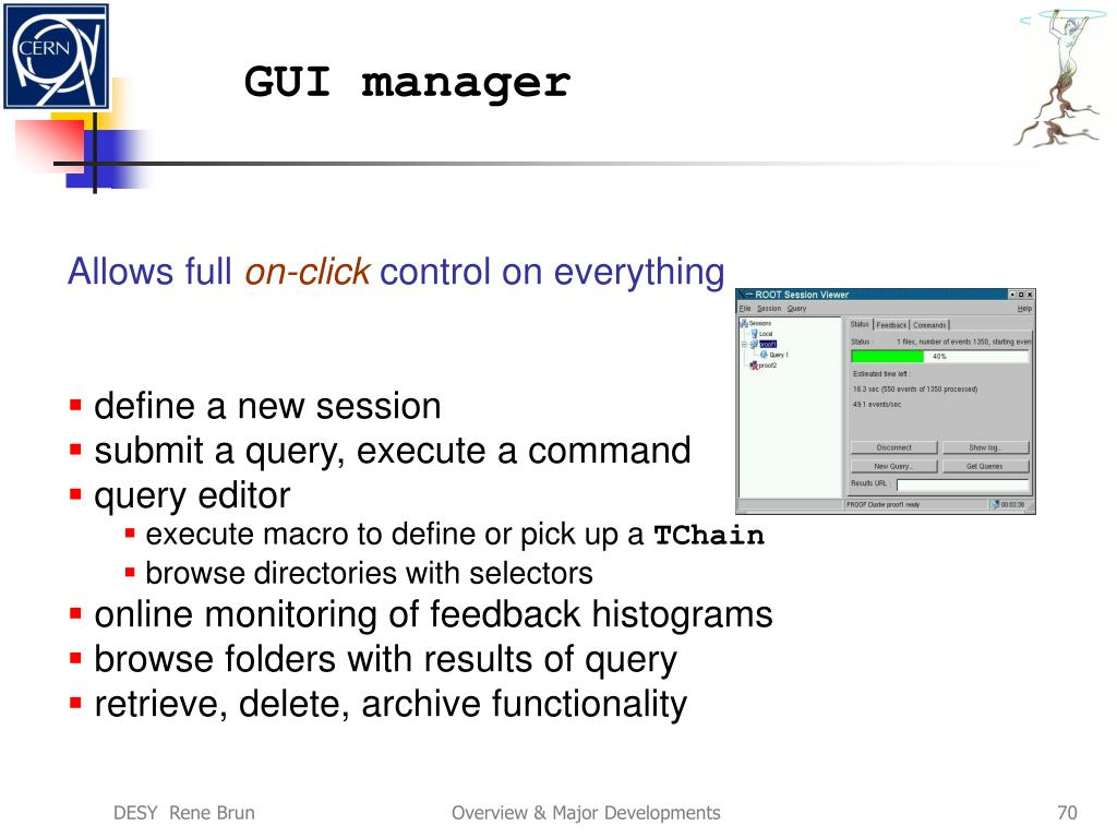 GUI manager