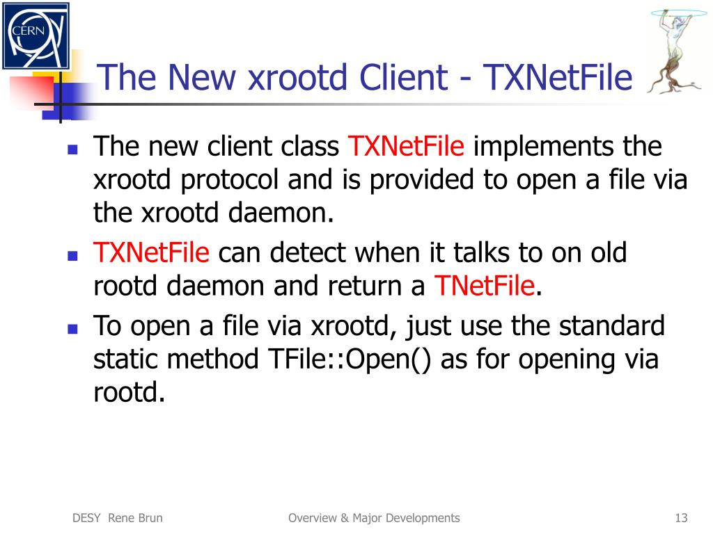 The New xrootd Client - TXNetFile