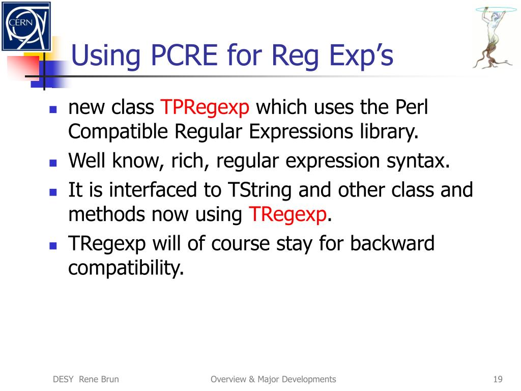 Using PCRE for Reg Exp's