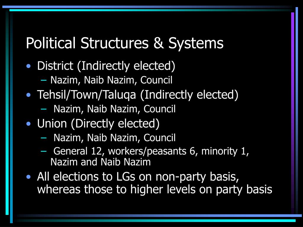 Political Structures & Systems