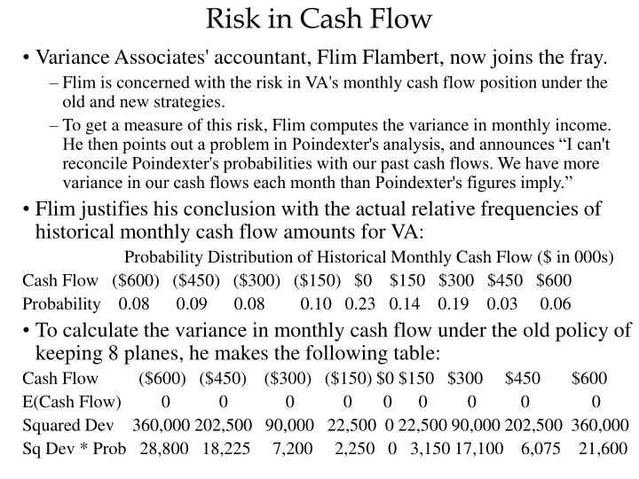 Risk in Cash Flow