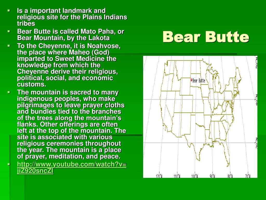 Is a important landmark and religious site for the Plains Indians tribes