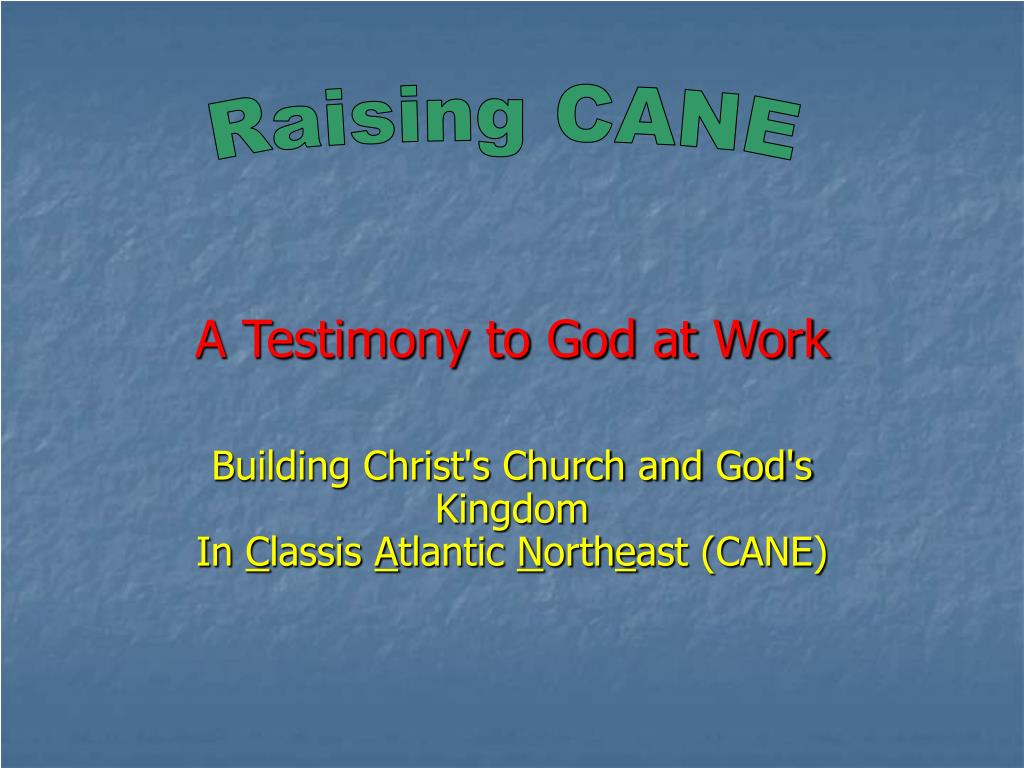 A Testimony to God at Work