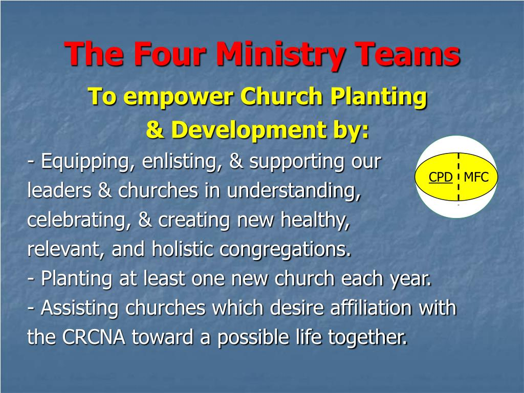 The Four Ministry Teams