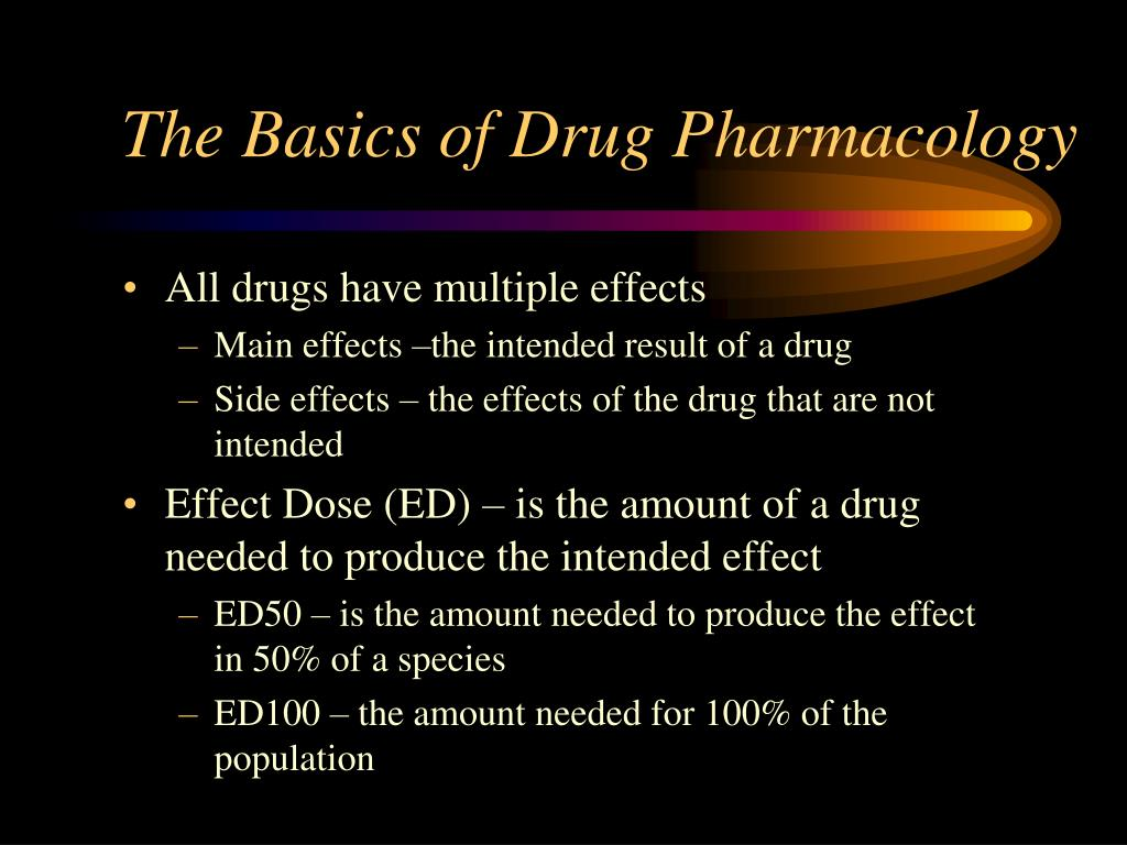 The Basics of Drug Pharmacology