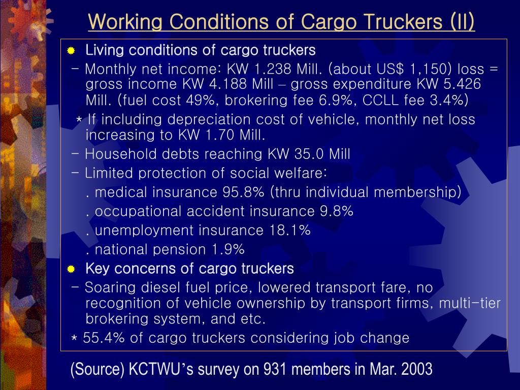 Working Conditions of Cargo Truckers (II)