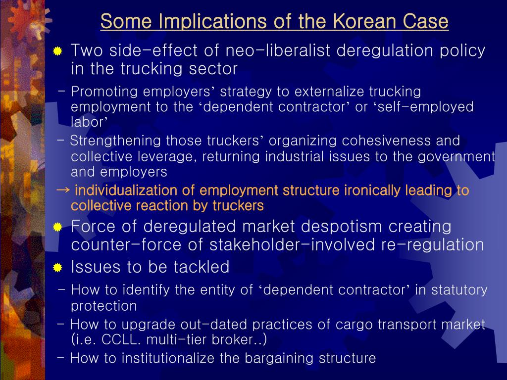 Some Implications of the Korean Case