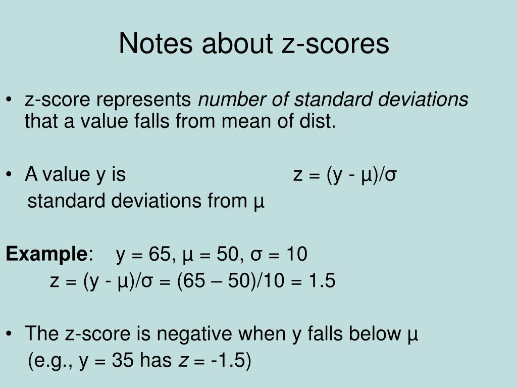 Notes about z-scores