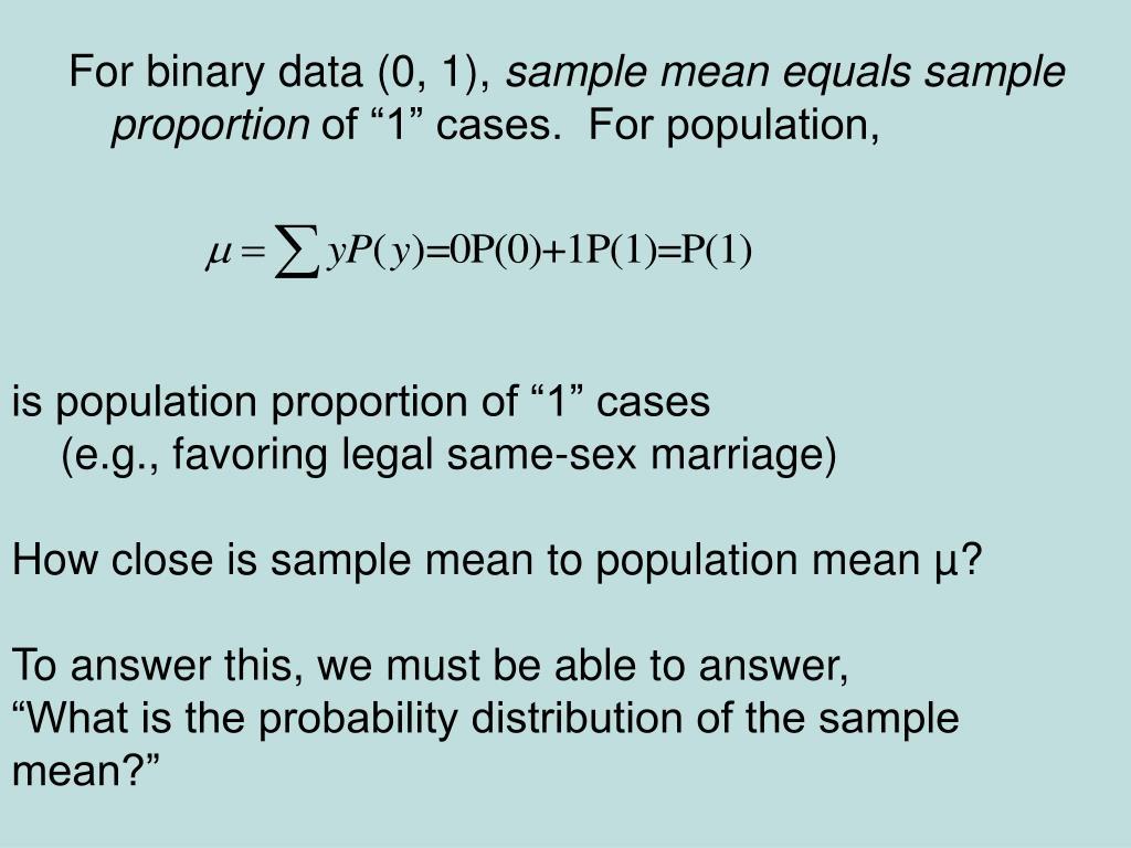 For binary data (0, 1),