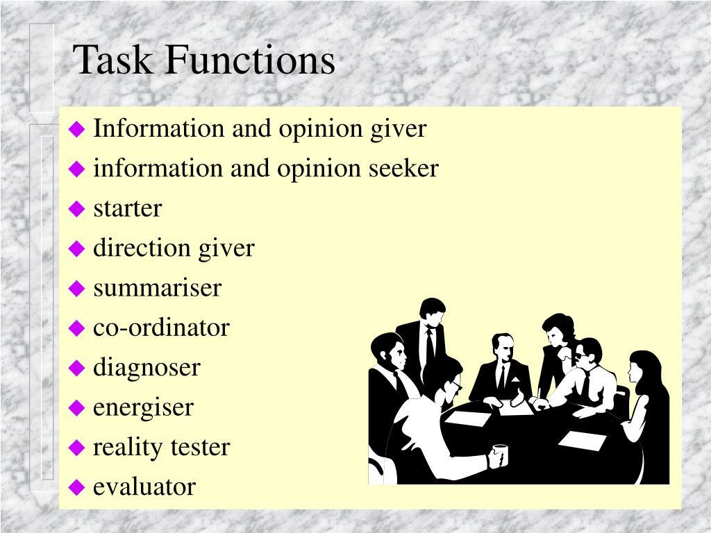 Task Functions