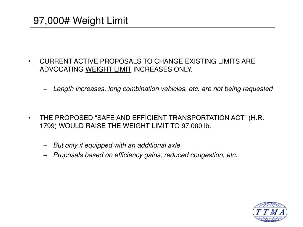 97,000# Weight Limit