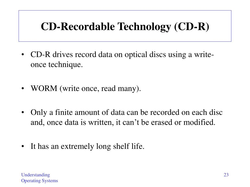 CD-Recordable Technology (CD-R)
