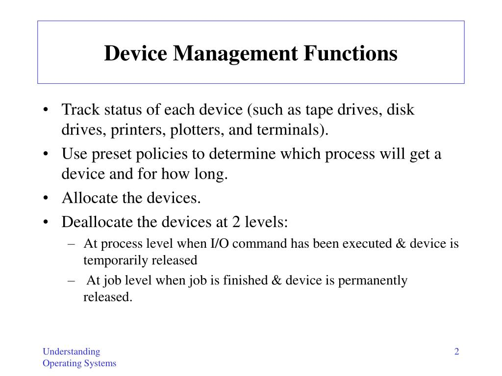 Device Management Functions