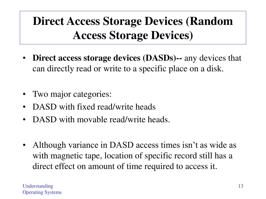 Direct Access Storage Devices (R