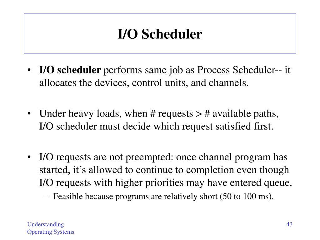 I/O Scheduler