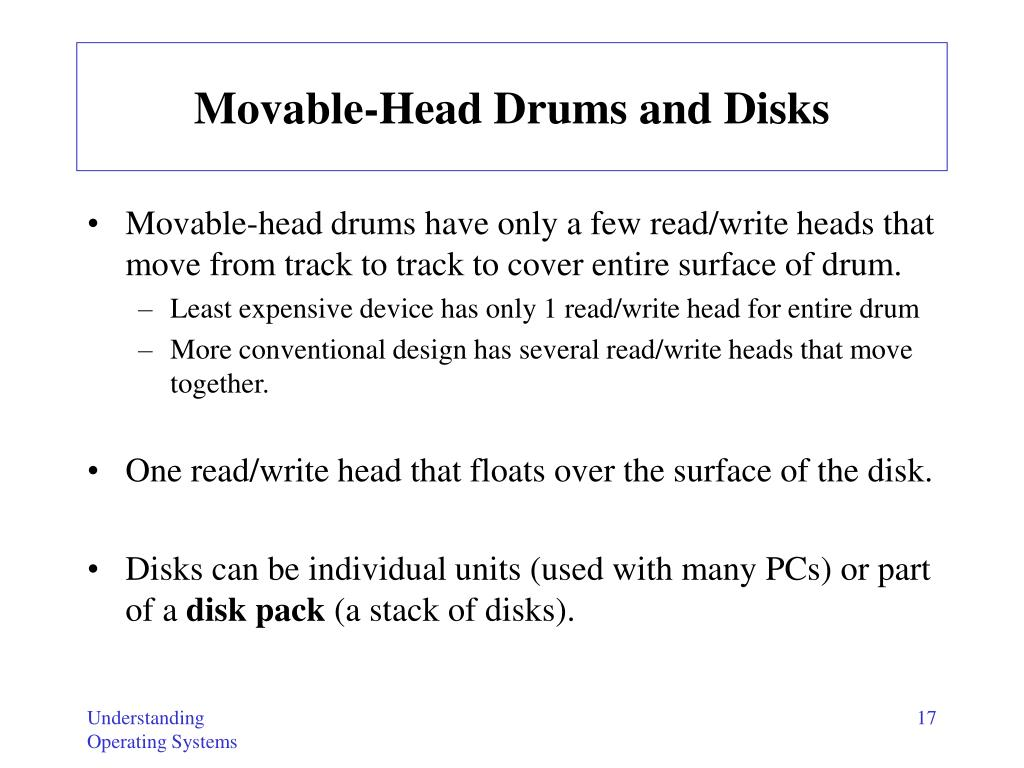 Movable-Head Drums and Disks