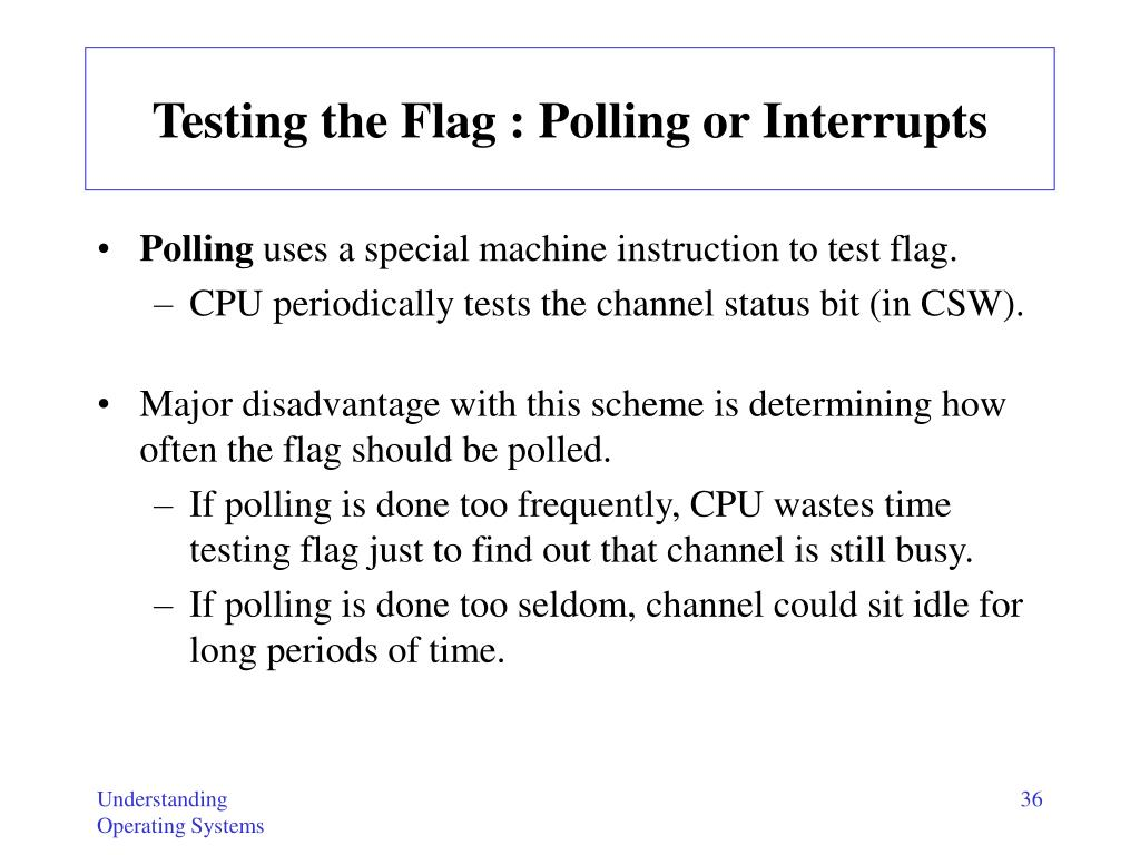 Testing the Flag : Polling or Interrupts