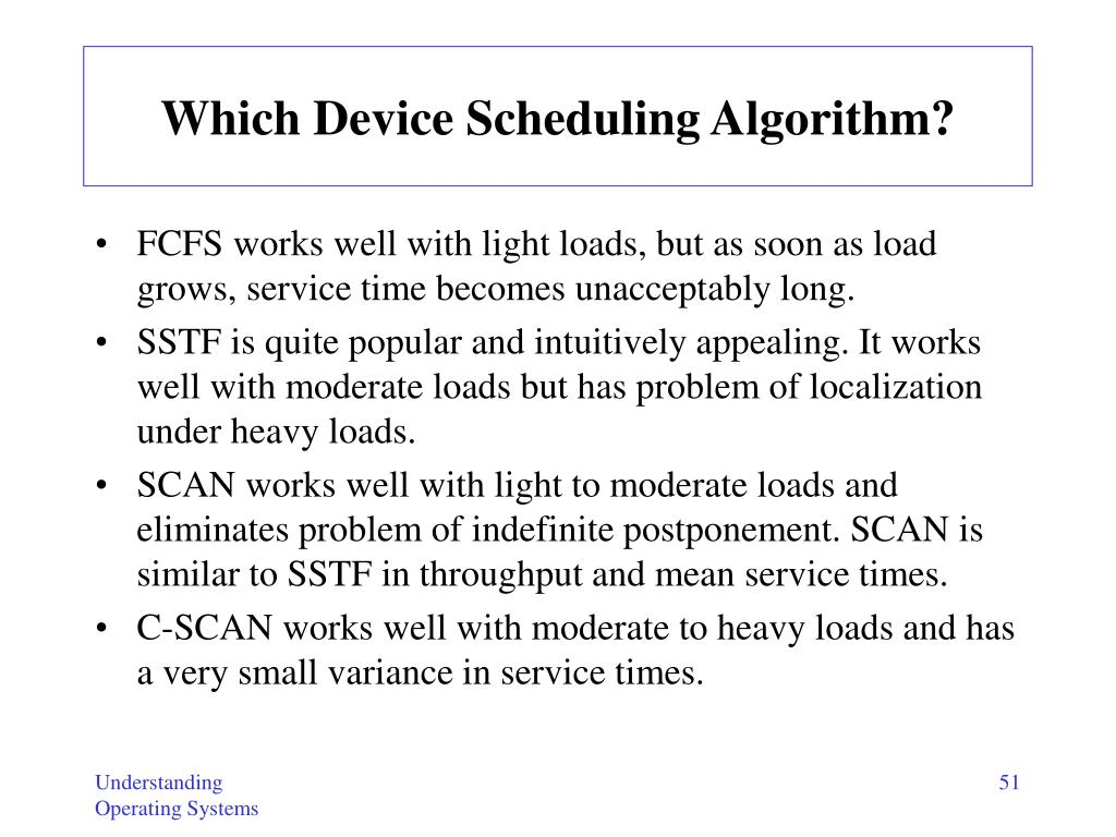Which Device Scheduling Algorithm?