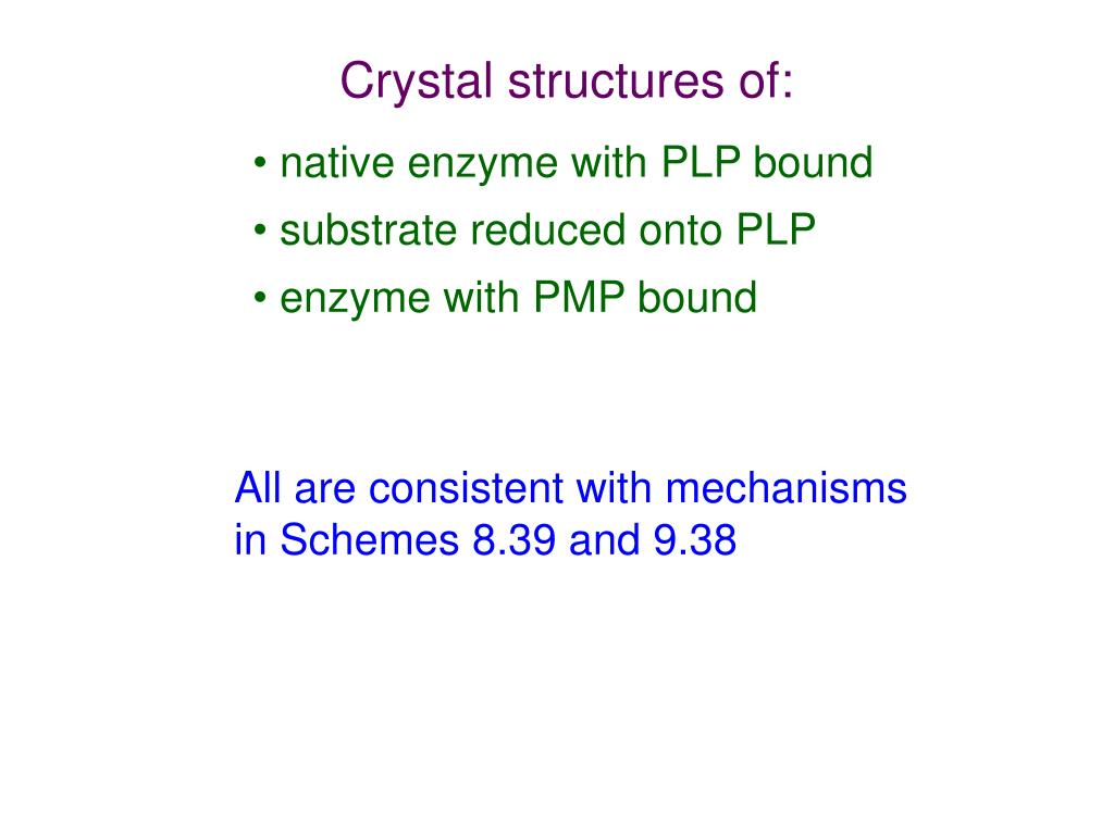 Crystal structures of: