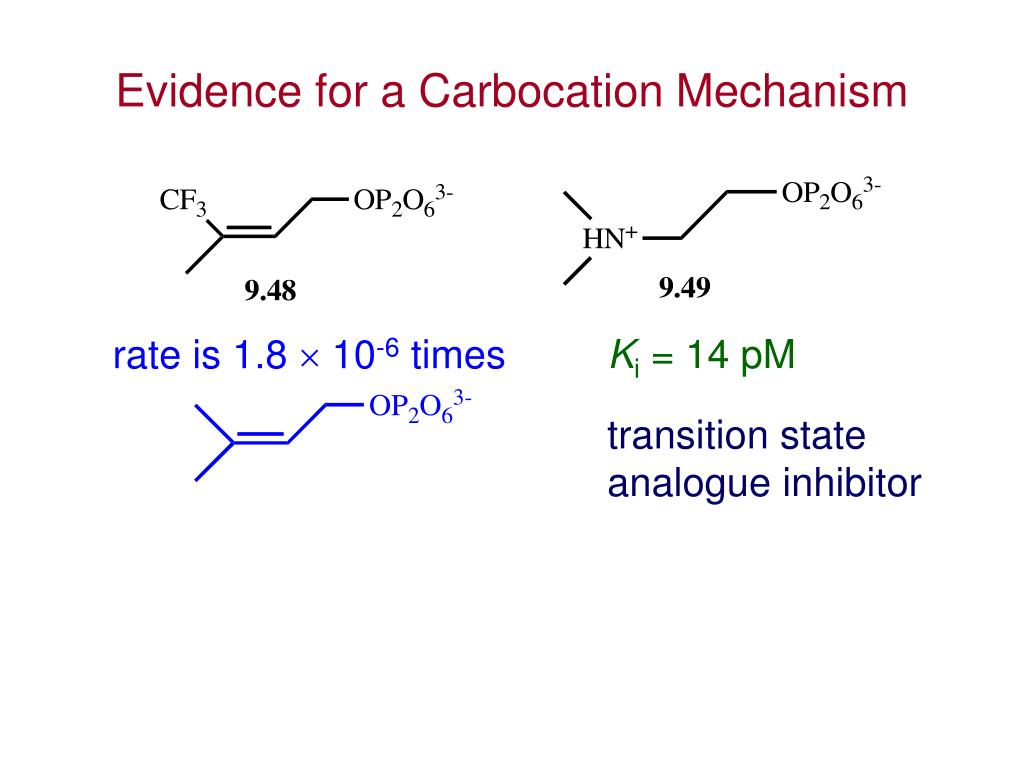 Evidence for a Carbocation Mechanism