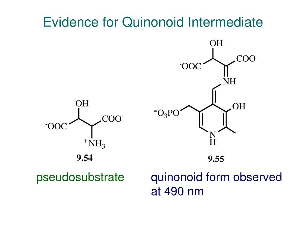 Evidence for Quinonoid Intermediate
