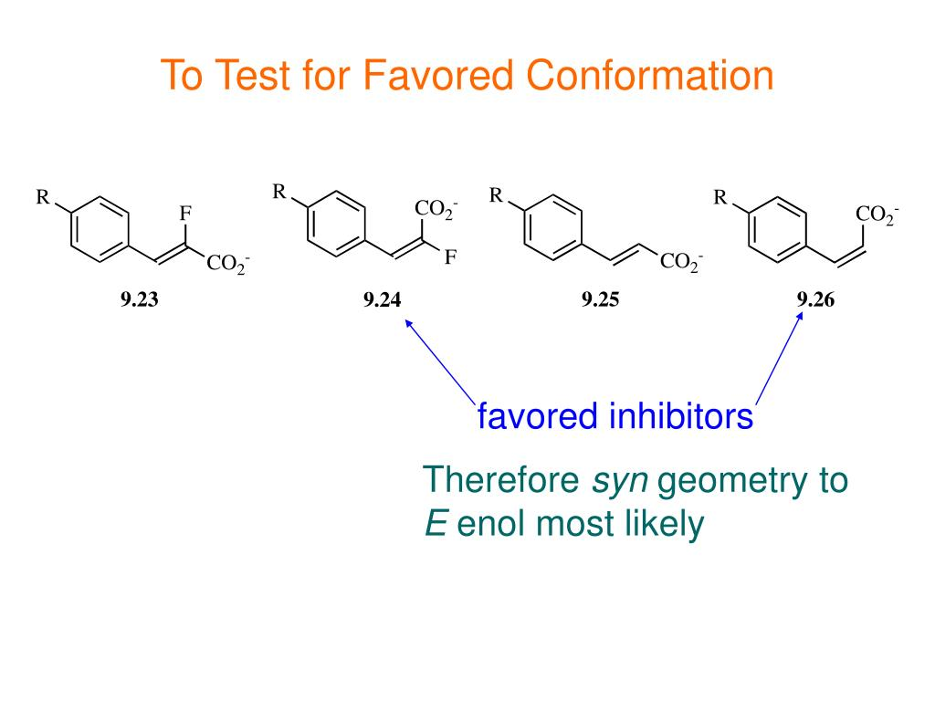 To Test for Favored Conformation