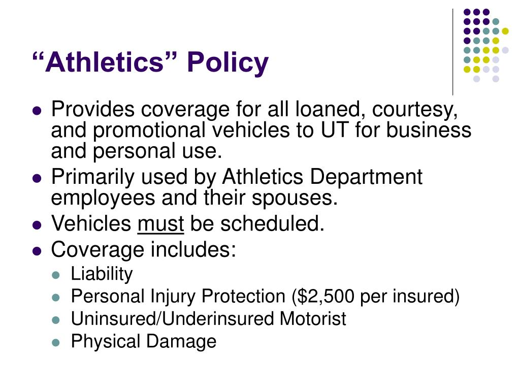 """Athletics"" Policy"