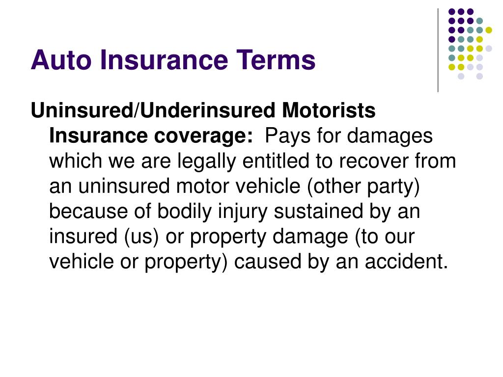 Auto Insurance Terms