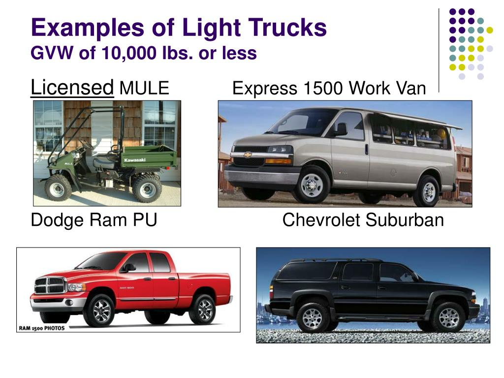 Examples of Light Trucks