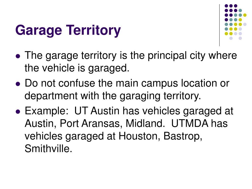 Garage Territory