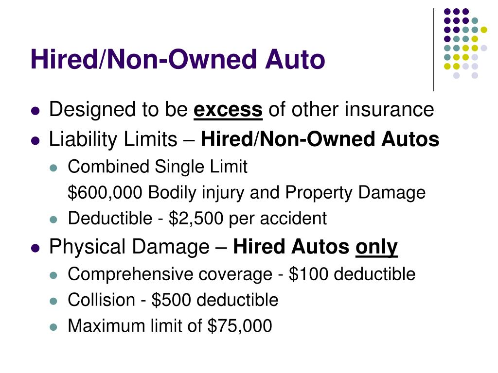 Hired/Non-Owned Auto