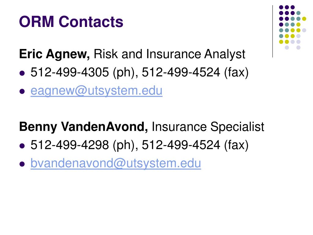 ORM Contacts