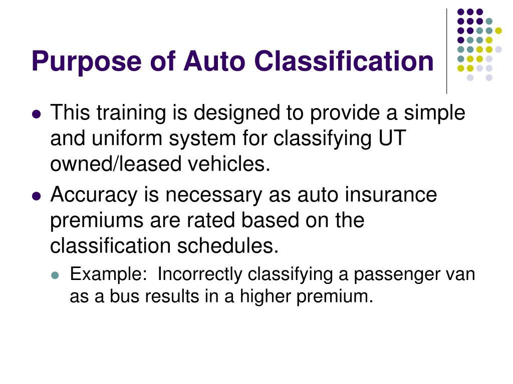 Purpose of Auto Classification