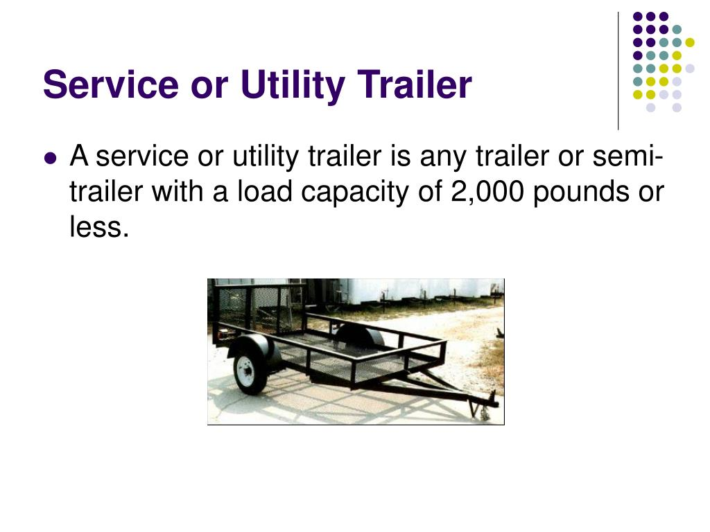 Service or Utility Trailer