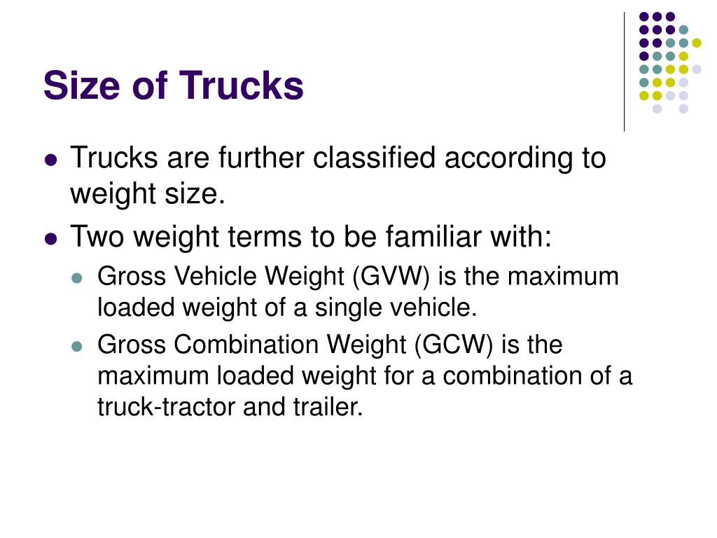Size of Trucks