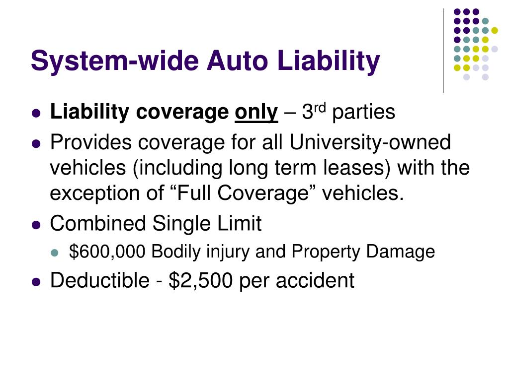 System-wide Auto Liability