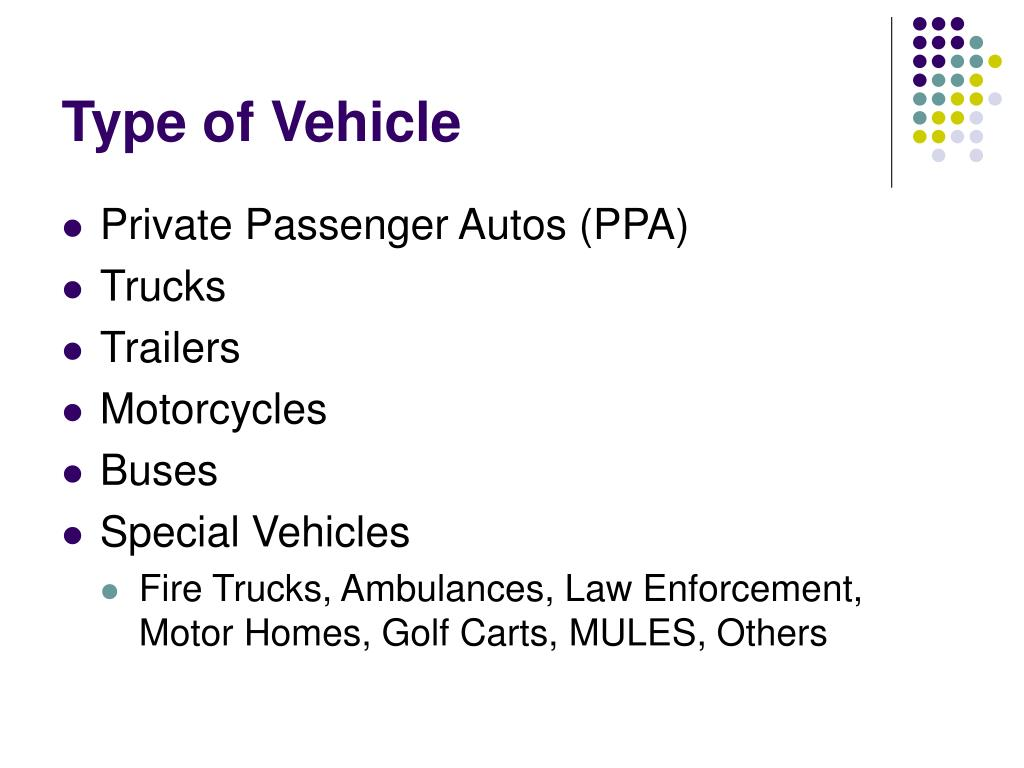 Type of Vehicle