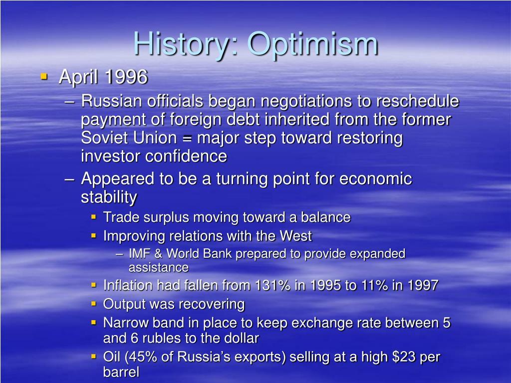 History: Optimism