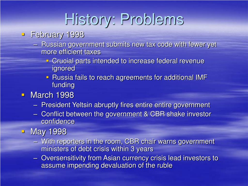 History: Problems