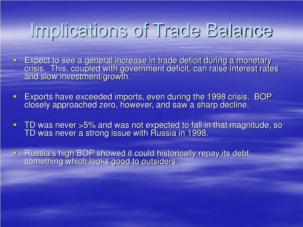 Implications of Trade Balance