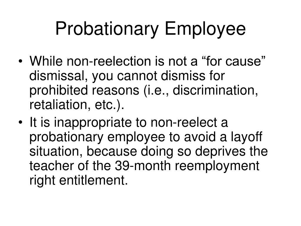Probationary Employee