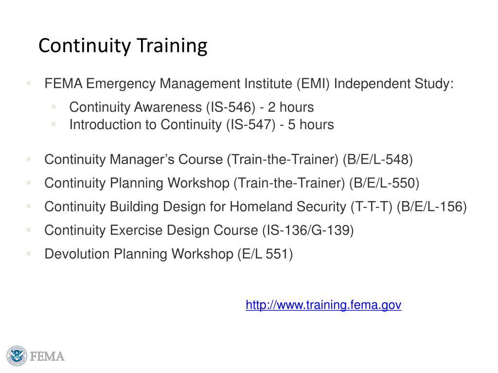 Continuity Training