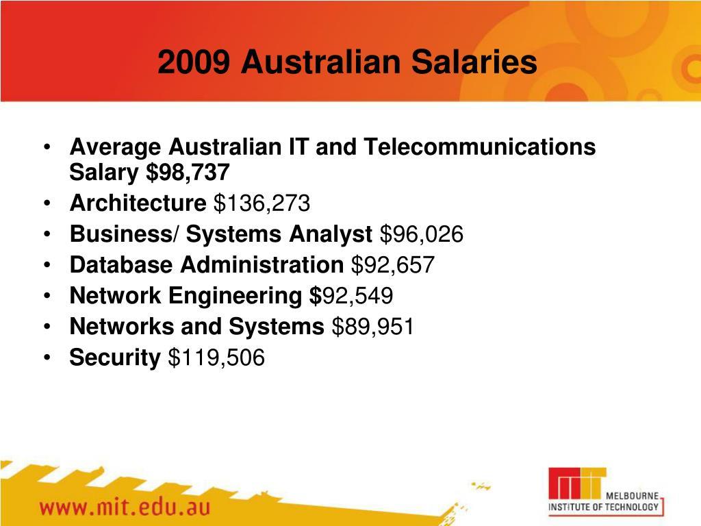 2009 Australian Salaries