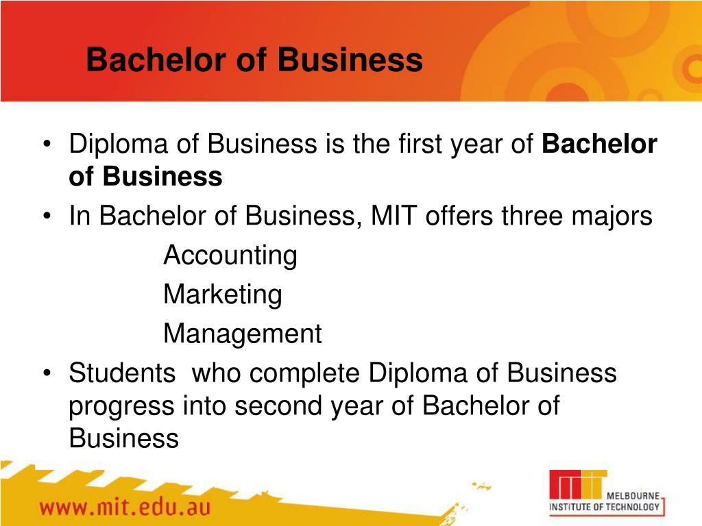 Bachelor of Business