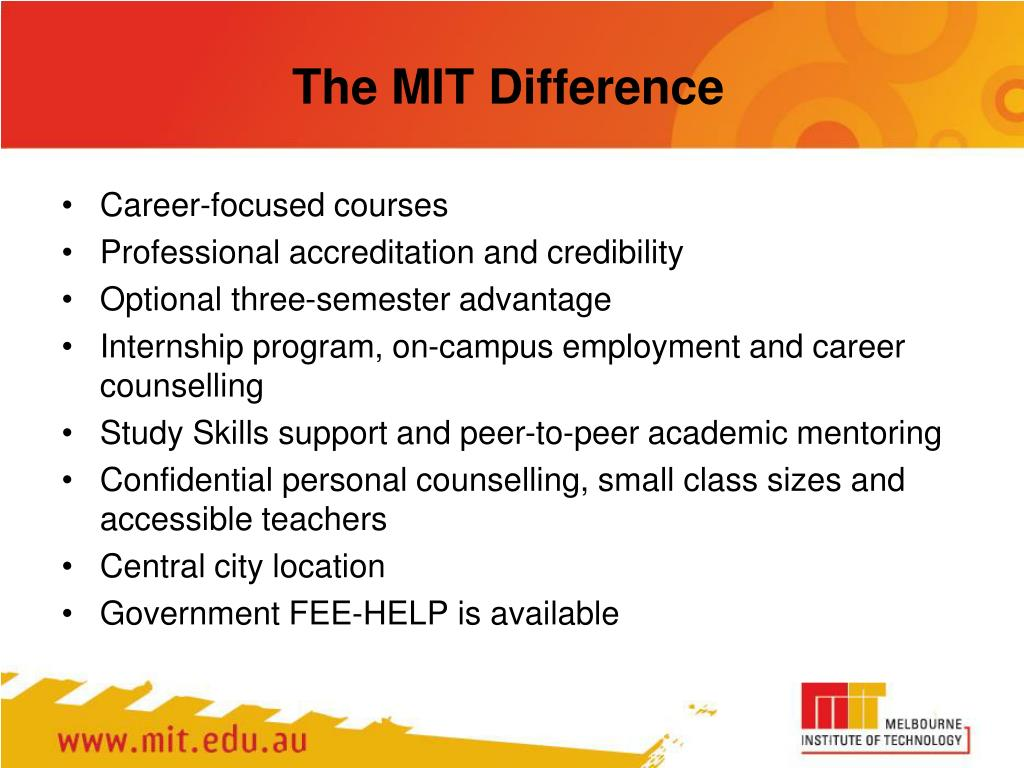 The MIT Difference