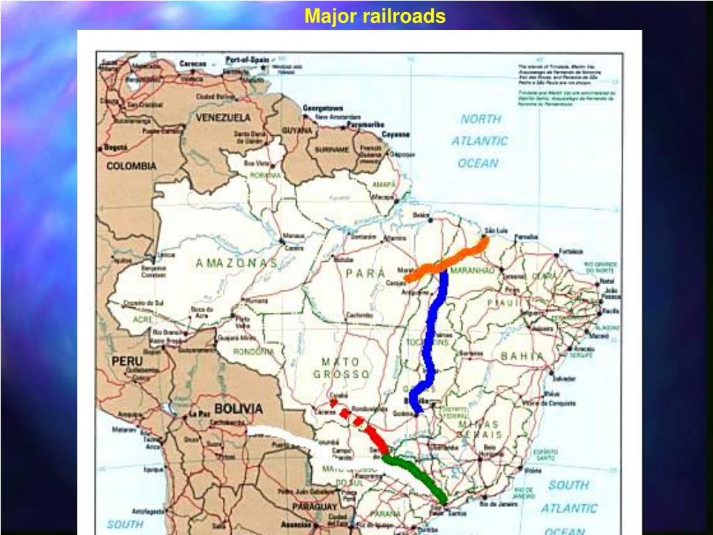 Major railroads