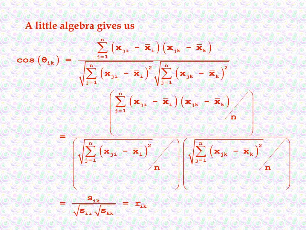 A little algebra gives us